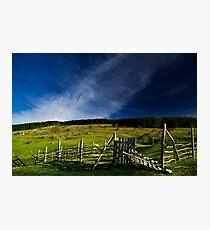 Rural landscape Photographic Print