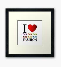 I love fashion with colorful eye wear  Framed Print