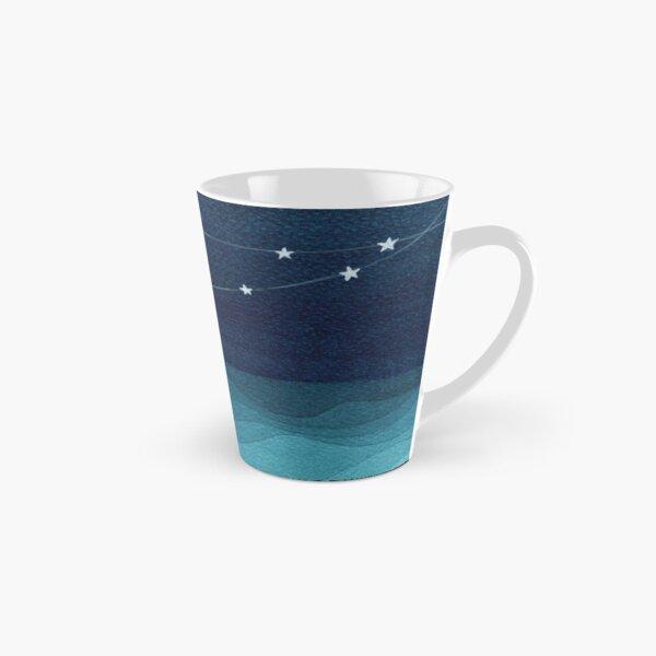 Garland of stars, teal ocean Tall Mug