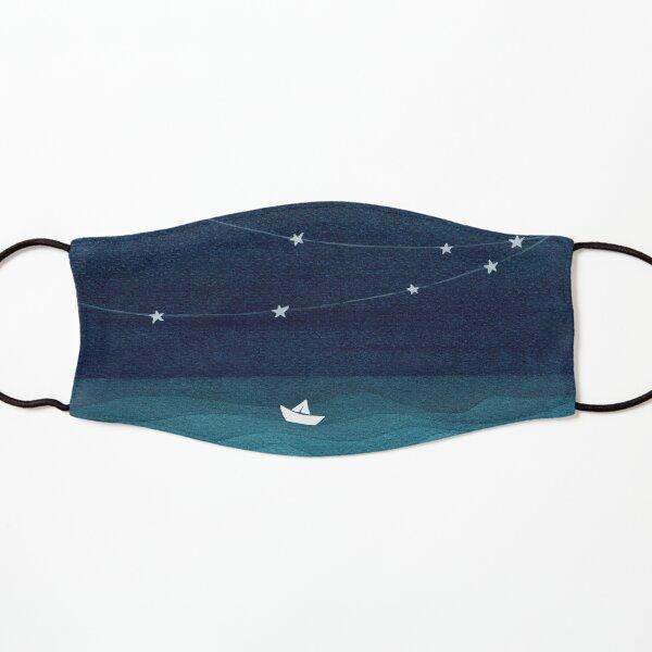 Garland of stars, teal ocean Kids Mask