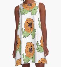 California Poppy A-Line Dress