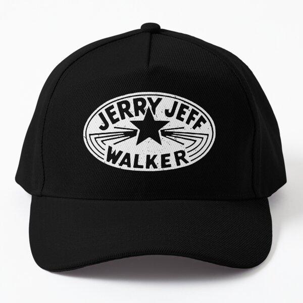 Jerry Jeff Walker white vintage logo Baseball Cap