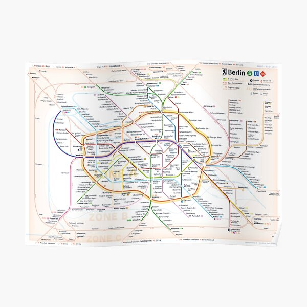 New Berlin rapid transit route map (July 9, 2021) Poster