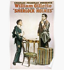 Performing Arts Posters Charles Frohman presents William Gillette in his new four act drama Sherlock Holmes 1341 Poster