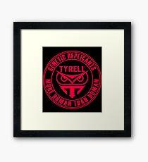 TYRELL CORPORATION - BLADE RUNNER (RED) Framed Print