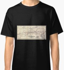 0271 Railroad Maps Map of the Great Central Railway Line of the west and connecting Classic T-Shirt