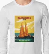 Travel Barcelona Long Sleeve T-Shirt