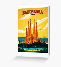 Tarjeta de felicitación Viajes Barcelona