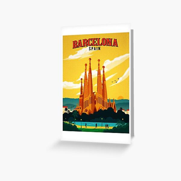Reise Barcelona Grußkarte