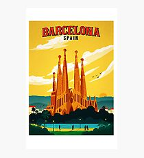 Travel Barcelona Photographic Print