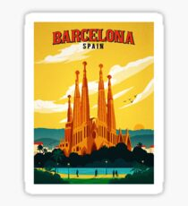 Travel Barcelona Sticker
