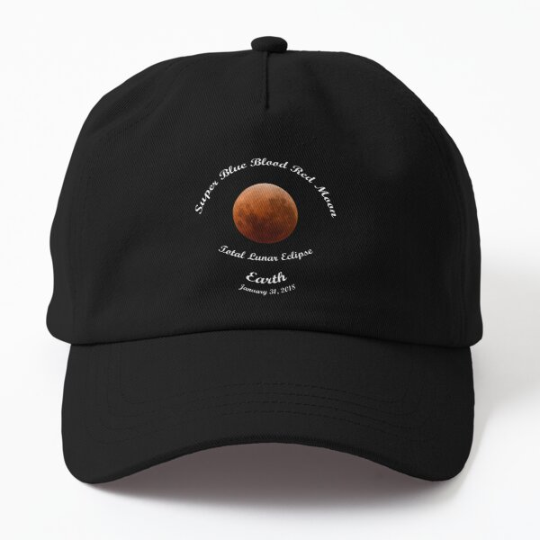 Super Blue Blood Red Moon Eclipse 2018 from Earth Dad Hat