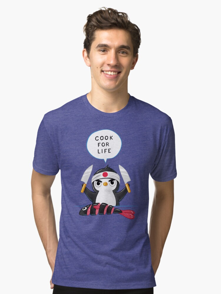 Alternate view of Penguin Chef Tri-blend T-Shirt