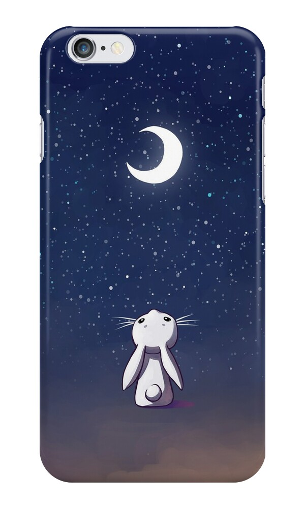 iphone 6s free quot moon bunny quot iphone cases amp skins by freeminds redbubble 3558