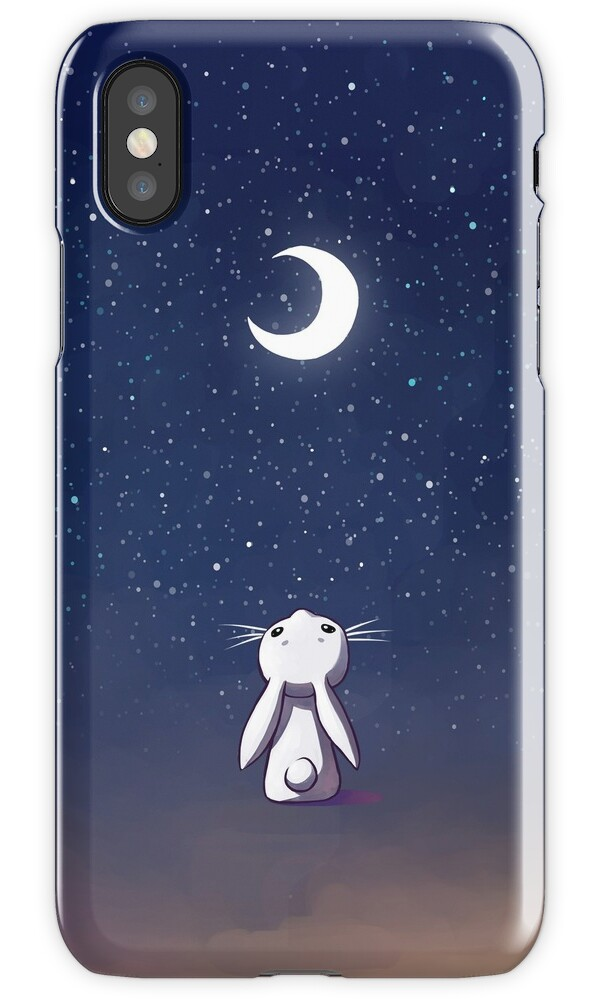 iphone 6s free quot moon bunny quot iphone cases amp covers by freeminds redbubble 3558