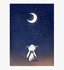 Moon Bunny Photographic Print