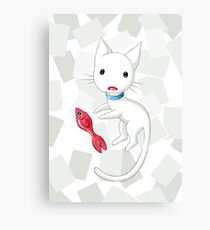 Cat and Fish Canvas Print