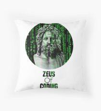 ZEUS OF CODING Throw Pillow
