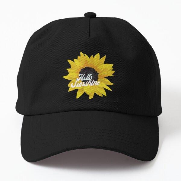 Hello Sunshine Sunflower field pattern retro Dad Hat