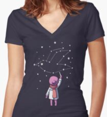 Constellation Women's Fitted V-Neck T-Shirt