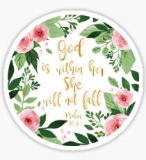 Pegatina Acuarela de Salmos 46: 5