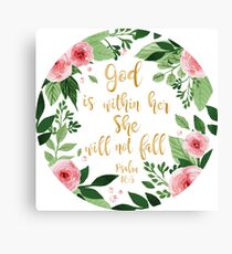 Psalms 46:5 watercolor Canvas Print