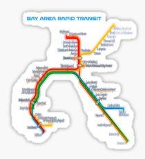 San Francisco BART Map Sticker