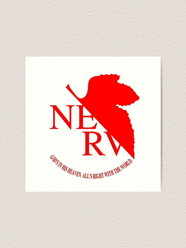 Alternate view of Nerv Logo, Neon Genesis Evangelion Art Print