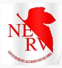 Nerv Logo, Neon Genesis Evangelion Poster