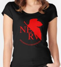 Nerv Logo, Neon Genesis Evangelion Women's Fitted Scoop T-Shirt
