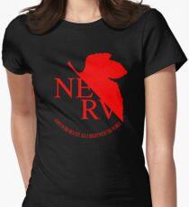 Nerv Logo, Neon Genesis Evangelion Womens Fitted T-Shirt