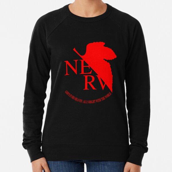 Nerv Logo, Neon Genesis Evangelion Lightweight Sweatshirt