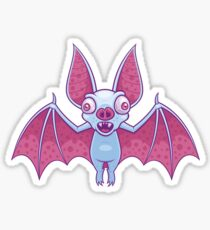 Albino Vampire Bat Sticker