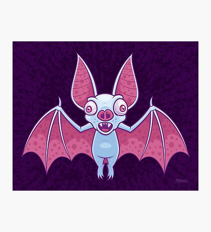 Albino Vampire Bat Photographic Print