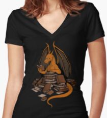 Book Wyrm Horde Women's Fitted V-Neck T-Shirt