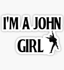 John Lennon girl Sticker