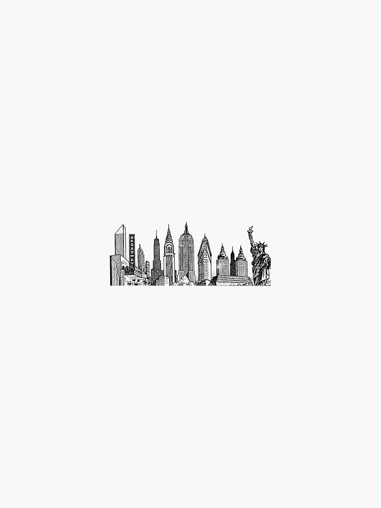 NYC Skyline by dartydesigns