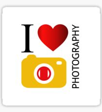I love photography Sticker