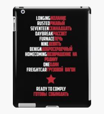 Good Morning Soldier (White text) iPad Case/Skin