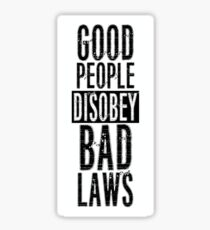 Protest Quote Funny Text Good People Sticker