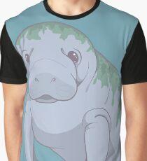 Cute Underwater Manatee with Algae, no background  Graphic T-Shirt