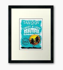 Tahiti Tropical Summer Beach Framed Print