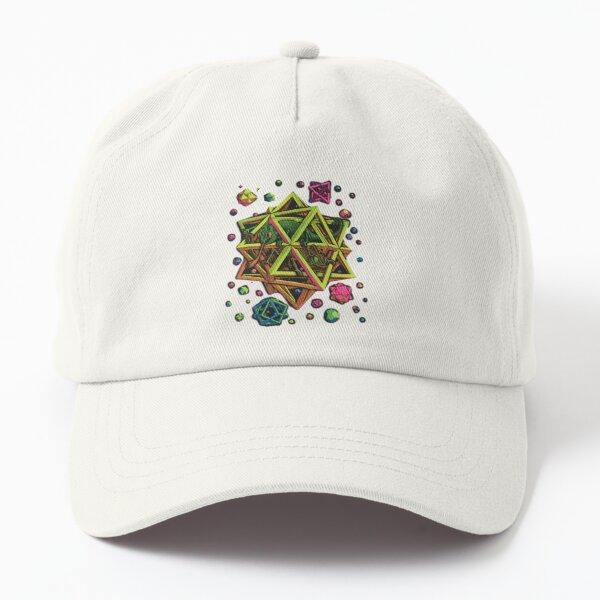 Escher - STARS... blacklight Dad Hat