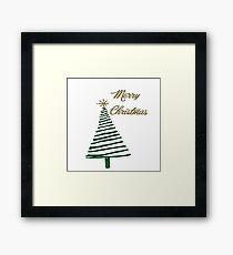 Merry Christmas Tree Framed Print