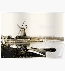 Historical Cley Windmill Poster