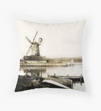 Historical Cley Windmill Throw Pillow