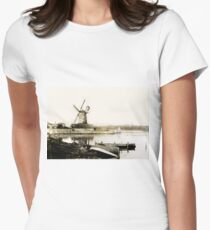Historical Cley Windmill Women's Fitted T-Shirt
