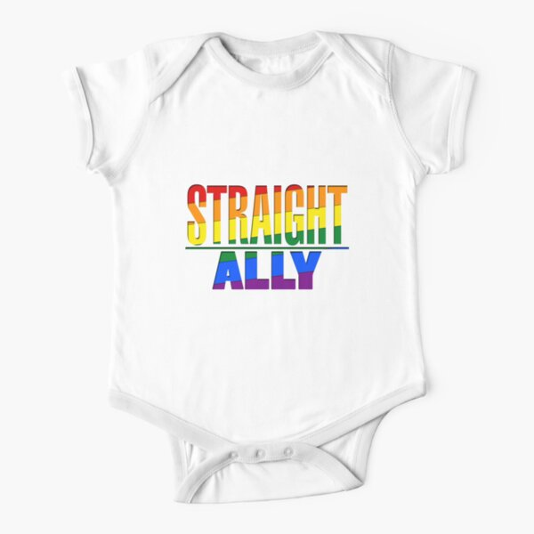 Straight Ally Short Sleeve Baby One-Piece