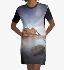 Bow Fiddle Long Exposure Graphic T-Shirt Dress