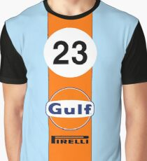 Gulf Oil Racing colours Graphic T-Shirt